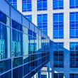 Stock Photo: Modern corporate architecture skywalk