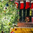Lots os presents around christmas tree before christmas — Stock Photo #37881257