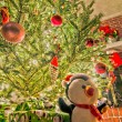 Lots os presents around christmas tree before christmas — Stock Photo #37881625
