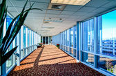 Modern corporate architecture skywalk — Stock Photo