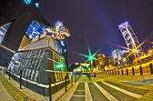 1st january, 2014, charlotte, nc, usa - night view of carolina p — Foto de Stock