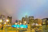 December 27, 2014, charlotte, nc, usa - charlotte skyline near r — Stock Photo