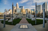 December 27, 2013, charlotte, nc - view of charlotte skyline at — Stock Photo