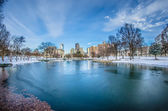 Charlotte north carolina marshall park in winter — Stock Photo