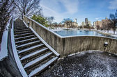 Charlotte north carolina marshall park in winter — ストック写真