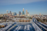 Rare winter scenery around charlotte north carolina — Stock Photo