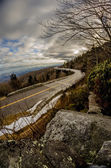 Linn cove viaduct during winter near blowing rock nc — Stock Photo
