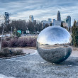 View of charlotte nc skyline from midtown park — Stock Photo #43354929