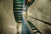 Concrete stairwell, staircase,fire exit — Stock Photo