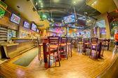 Sitting area inside of a tavern bar restaurant — Foto de Stock