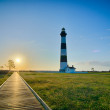 Bodie Island Lighthouse OBX Cape Hatteras North Carolina — Stock Photo #45216671
