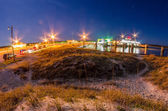 Ocracoke island at night scenery — Stock Photo