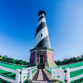 Diagonal black and white stripes mark the Cape Hatteras — Stock Photo