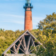 Currituck Beach Lighthouse on the Outer Banks of North Carolina — Stok fotoğraf #45221535