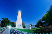 The Ocracoke Lighthouse on Ocracoke Island on the North Carolina — Stock Photo