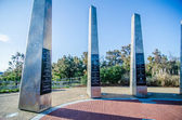 Monument to century of flight at kytty hawk nc — Stock Photo