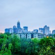 Early cloudy morning over charlotte skyline in north carolina — Stock Photo #47231651
