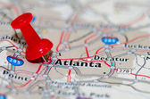 Atlanta georgia city pin on the map — Stock Photo