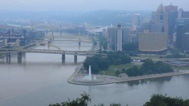 Pittsburgh skyline — Stock Video