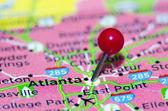Atlanta city pin on the map — Photo