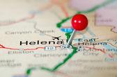 Helena city pin on the map — Photo