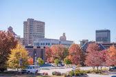 Asheville panoramę jesienią — Zdjęcie stockowe