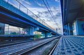 地铁和道路桥梁在圣 · 路易斯莫 — 图库照片