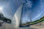 Gateway arch in st louis missouri  — Stock Photo