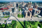 Aerial of The Old Court House surrounded by downtown St. Louis — Stock Photo