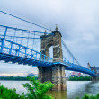 Cincinnati skyline. Image of Cincinnati skyline and historic Joh — Stock Photo #48671183