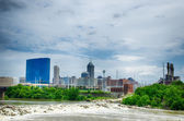 Indianapolis skyline. Panoramic image of Indianapolis skyline at — Stock Photo