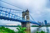 Cincinnati skyline. Image of Cincinnati skyline and historic Joh — Stock Photo
