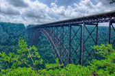 West Virginia's New River Gorge bridge carrying US 19 over the g — Stock Photo