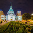 St. Louis downtown skyline buildings at night — Stock Photo #49428943