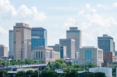 Nashville, Tennessee downtown skyline and streets — Stock Photo