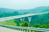 Highway runs through mountains of west virginia — Stock Photo