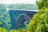 West Virginia's New River Gorge bridge carrying US 19 — Stock Photo