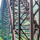 West Virginia's New River Gorge bridge carrying US 19  — 图库照片