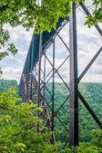 West Virginia's New River Gorge bridge carrying US 19  — Foto Stock