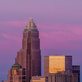 Charlotte, North Carolina, skyline in the afternoon sun. — Stock Photo
