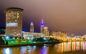 Cleveland downtown on cloudy day — Stok fotoğraf