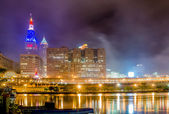 Cleveland downtown on cloudy day — Foto de Stock