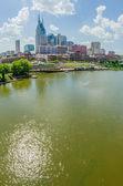 Nashville, tennessee skyline du centre et la rue — Photo