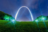 Saint louis gateway arch and downtown skyline — Stock Photo