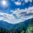 Great Smoky Mountains National Park on north carolina tennessee — Stock Photo #50209237