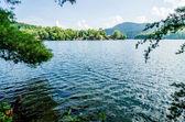Lake santeetlah in great smoky mountains nc — Stock Photo