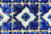 Detail of some typical portuguese tiles — Foto Stock