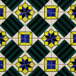 Detail of some typical portuguese tiles - Foto Stock