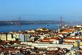 The Tagus River and the Bridge, Lisbon, POrtugal — Stock Photo