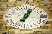 Detail of the clock tower of the Cathedral of Lisbon — Stock Photo